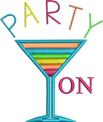 Party On embroidery design