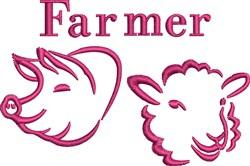 Farmer embroidery design