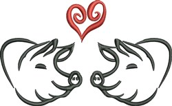 Pig Love embroidery design