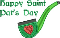 Happy Saint Pats Day embroidery design