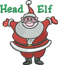 Head Elf embroidery design