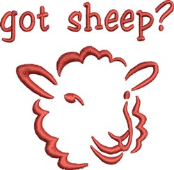 Got Sheep? embroidery design
