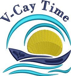 V-Cay Time embroidery design