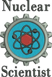 Nuclear Scientist embroidery design