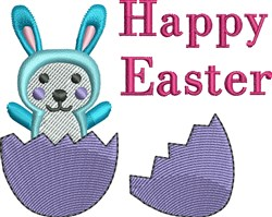 Bunny And Egg Easter embroidery design