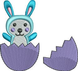 Bunny And Egg embroidery design