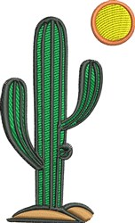 Cactus And Sun embroidery design