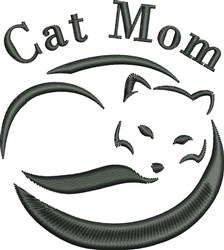 Cat Mom embroidery design
