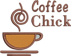 Coffee Chick embroidery design