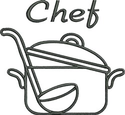 Chefs Stockpot embroidery design