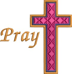 Religious Cross Pray embroidery design