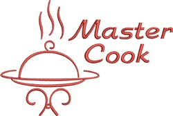 Master Cook Dinner embroidery design