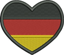 Made In Germany Flag embroidery design