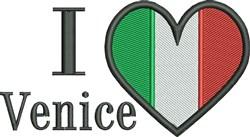 I Love Venice Flag embroidery design