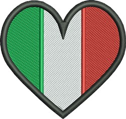 Flag Of Italy embroidery design
