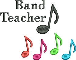 Band Teacher  embroidery design