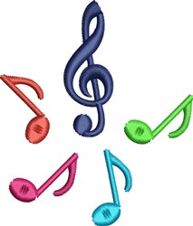 Pitch Perfect Music Notes embroidery design
