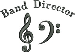 Band Director  embroidery design