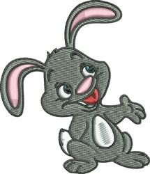 Hoppy Rabbit embroidery design