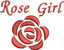 Rose Girl embroidery design