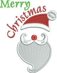 Merry Christmas Santa Hat embroidery design