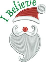 I Believe Santa Hat embroidery design