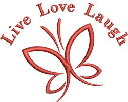 Live Love Laugh Butterfly embroidery design