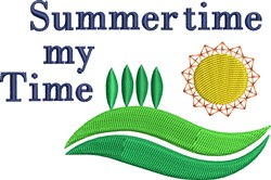 Summer Time My Time embroidery design