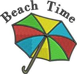 Beach Time Umbrella embroidery design
