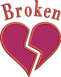 Heart Broken embroidery design