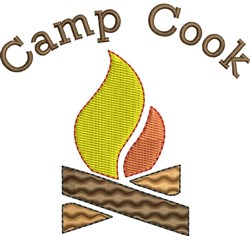 Campfire Camp Cook embroidery design