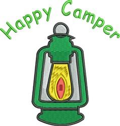 Happy Camper Lantern embroidery design