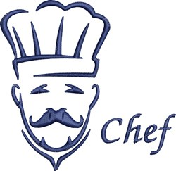 Chef Seasons Eating embroidery design