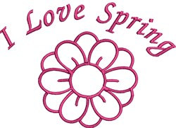 I Love Spring embroidery design