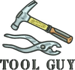 Tool Guy Pliers Hammer embroidery design