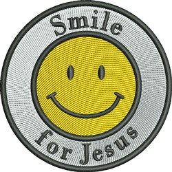 Smile For Jesus Smiley embroidery design