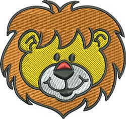Happy Lion embroidery design