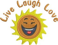 Live Laugh Love Sun embroidery design