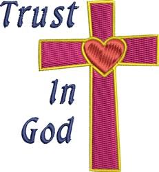 Trust In God Cross embroidery design