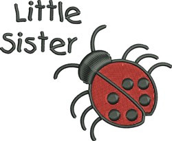 Little Sister Lady Bug embroidery design