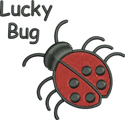 Lucky Lady Bug embroidery design