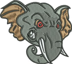 Mad Elephant embroidery design
