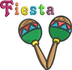 Maracas Fiesta embroidery design