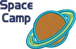 Space Camp Planet embroidery design