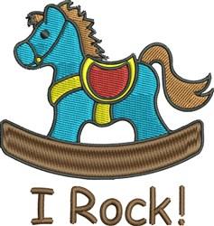 I Rock embroidery design