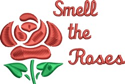 Smell The Roses embroidery design