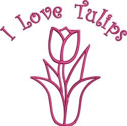 I Love Tulips embroidery design