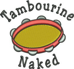Tambourine Naked embroidery design