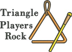 Triangle Players Rock embroidery design