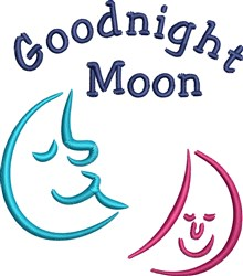 Goodnight Moon embroidery design